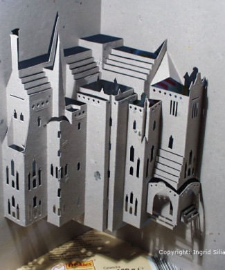 Episcopal Palace of Astorga Pop-Up Paper Sculpture by Ingrid Siliakus