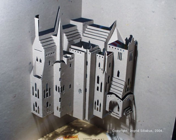 Episcopal Palace of Astorga Pop-Up Paper Sculpture by Ingrid Siliakus