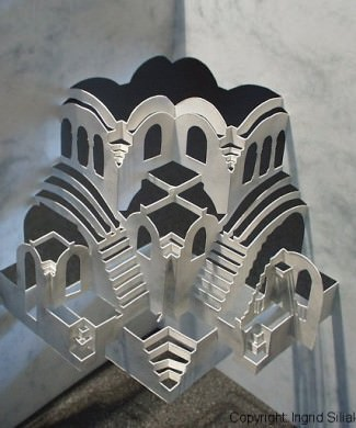 Cavety Pop-Up Paper Sculpture by Ingrid Siliakus