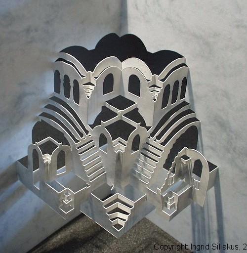 Cavety Pop-Up Paper Sculpture by Ingrid Siliakus