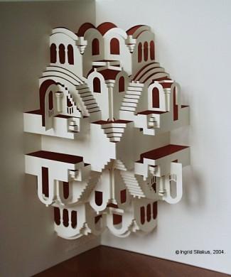 Echo Pop-Up Paper Sculpture by Ingrid Siliakus