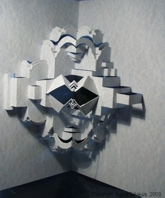 Merged Pop-Up Paper Sculpture by Ingrid Siliakus