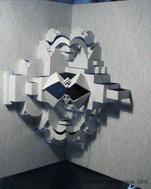 Merged Pop-Up Paper Sculpture by Ingrid Siliakus