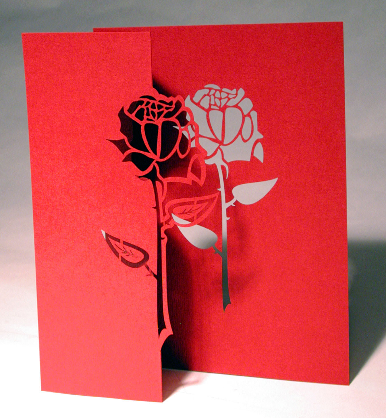 Rose pop up card popup card shop for Ingrid siliakus templates