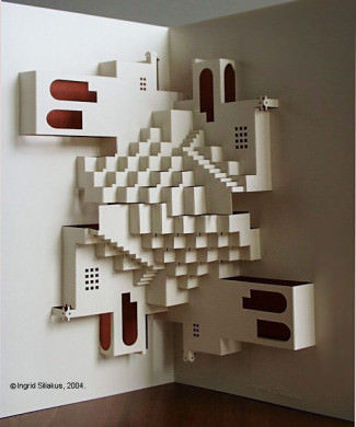 Repetition Pop-Up Paper Sculpture by Ingrid Siliakus