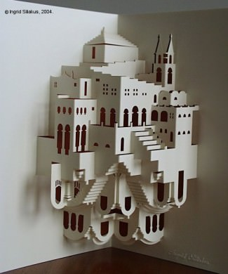 Transformation Pop-Up Paper Sculpture by Ingrid Siliakus