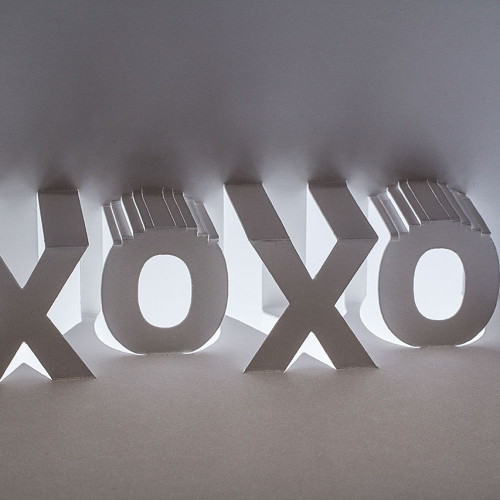 XOXO Popup Card by Andrew Crawford