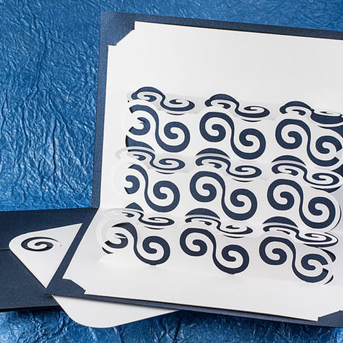 Celtic Sea Popup Card with Insert Card and Envelope