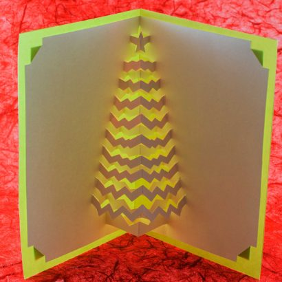Christmas Tree Popup Card Aglow