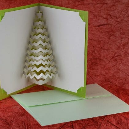 Christmas pop-up card how to make