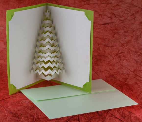 Christmas Tree Popup Card with Envelope