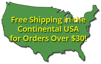free shipping in the continental USA for orders over $30
