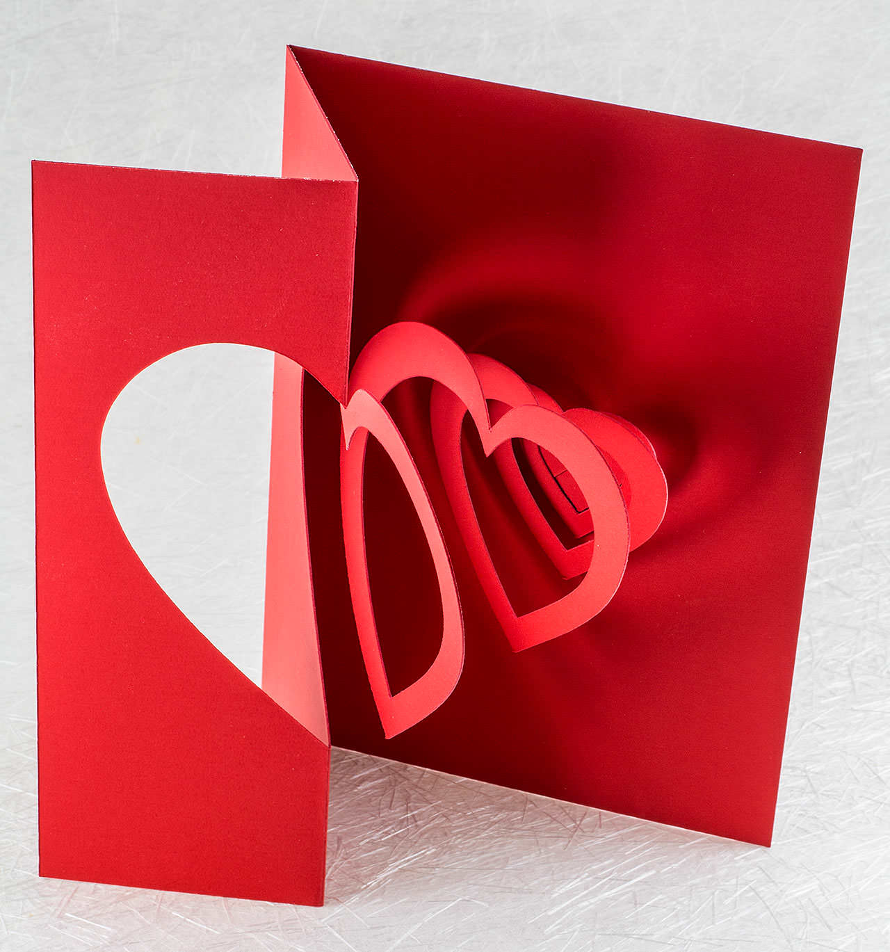 Helical Heart Pop Up Card Popup Card Shop