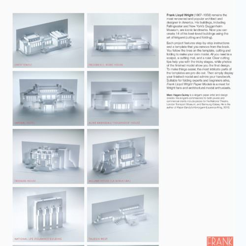 Frank Lloyd Wright Paper Models: 14 Kirigami Buildings to Cut and Fold (Back)